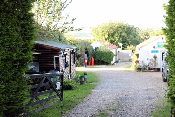 The campsite entrance of Serenity Touring Caravan and Camping Park