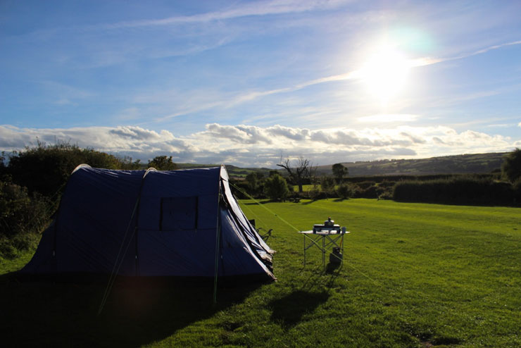 The delightful view from Serenity Touring Caravan and Camping Park