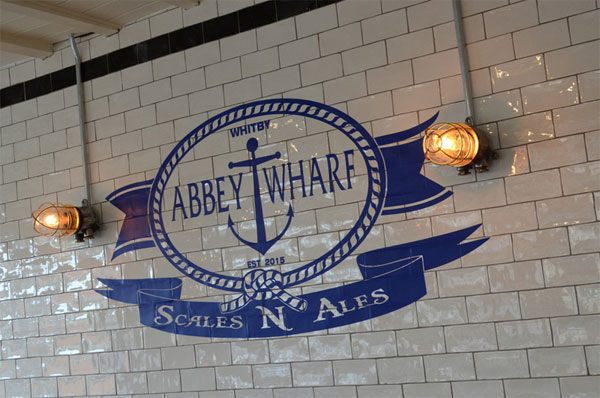 An internal sign at Abbey Wharf, Whitby