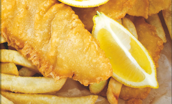 Bring your own fish and chips to Endeavour Pub, Whitby