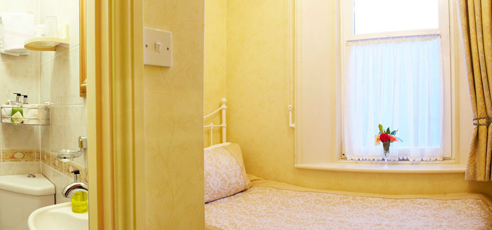 A comfortable single bedroom at The Haven Guest House, Whitby