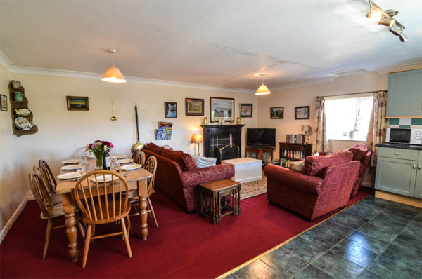 The lovely living area at the Granary, Aislaby Lodge Cottages