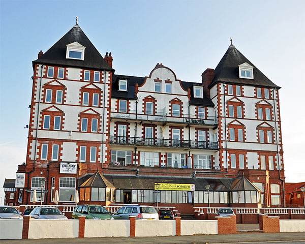 The grand exterior of Metropole Luxury Apartments, Whitby