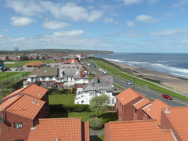 The stunning view towards Sandsend from The Garret, Metropole Luxury Apartments, Whitby