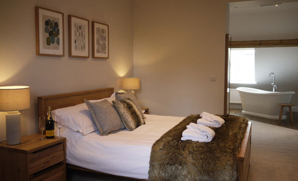 A charming double bedroom at The Belfry, Whitby