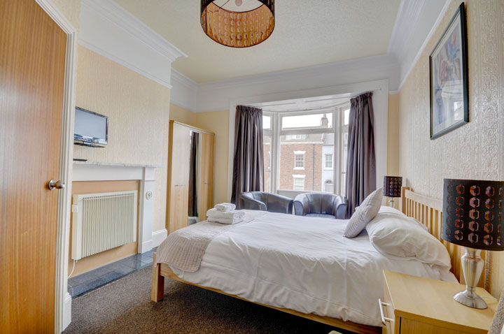 A double bedroom at The Corner Guest House, Whitby