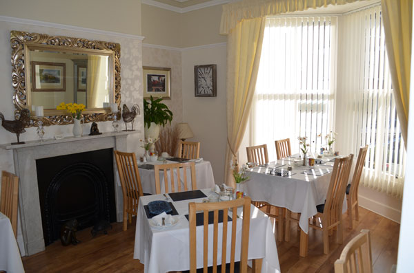 The delightful dining room at High Tor Guest House, Whitby
