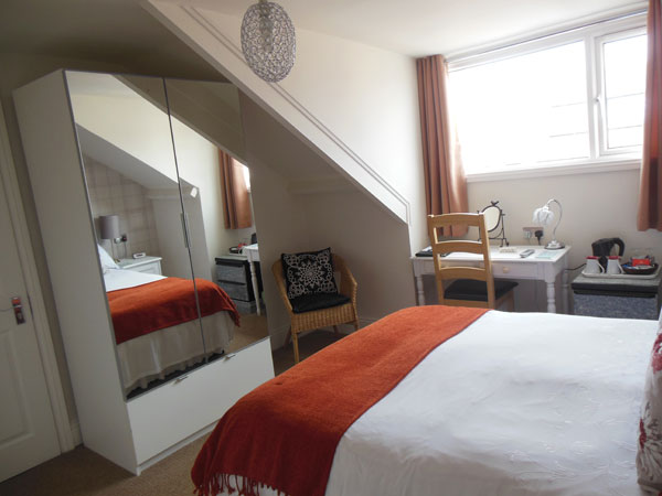 A double bedroom at High Tor Guest House, Whitby