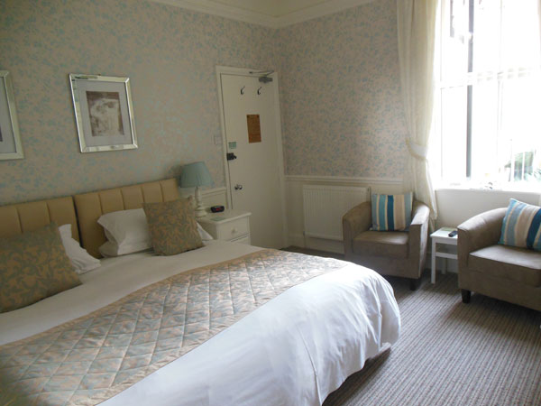 A light and airy double bedroom at High Tor Guest House, Whitby
