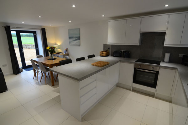 The spacious kitchen and dining area at Cottage 1, Granary Cottages, Whitby