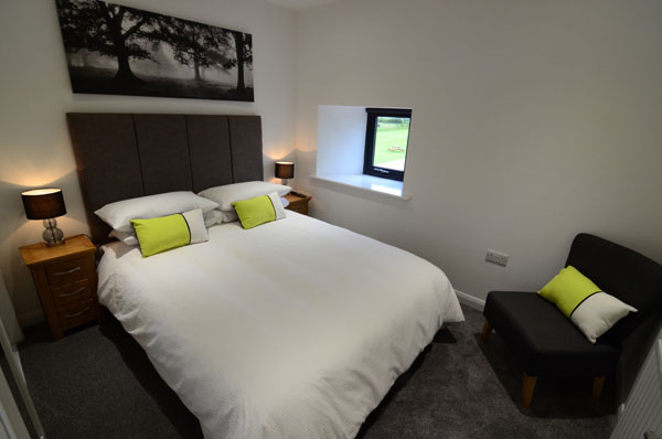 The double bedroom at Cottage 2, Granary Cottage, Whitby
