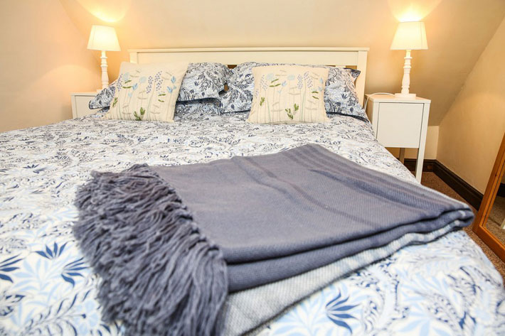 Double bedroom of Partridge Nest Farm cottage in Whitby