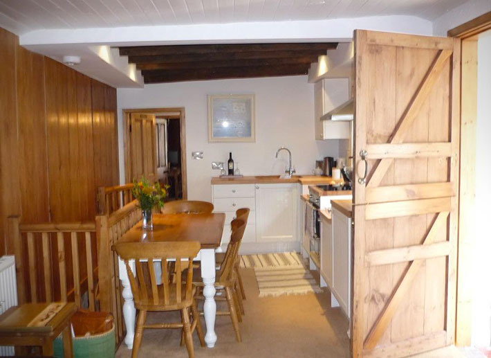 Contemporary country style kitchen of Longhouse cottage in Staithes
