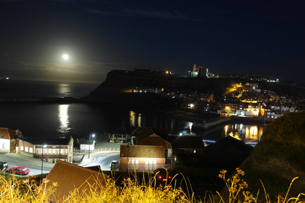 Whitby Walks beautiful night time shot of Whitby