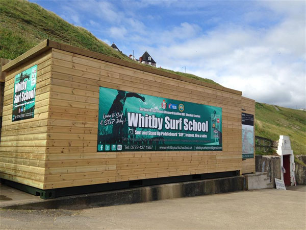 The new exterior of Whitby Surf School. Whitby