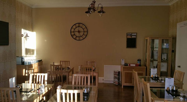 The breakfast room at The Leeway in Whitby