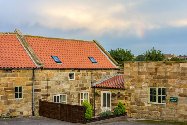 The exterior of Stable Cottage, Sandfield House Farm Caravan and Camping Park, Whitby