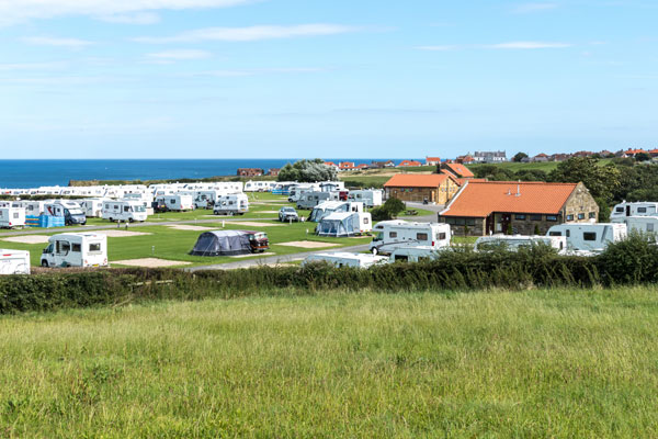 A lovely view across Sandfield House Farm Caravan and Camping Park, Whitby