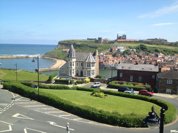 A stunning view from Khyber Mount Guest House, Whitby