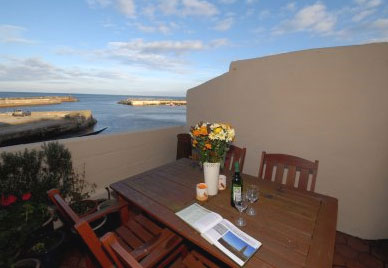 Delightful views from the sun terrace at Pennysteel Cottage, Whitby