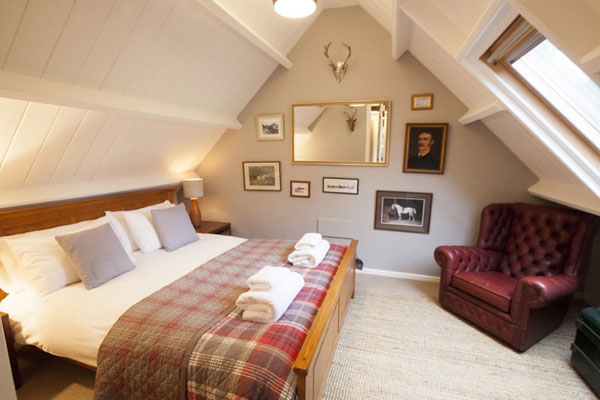 The attic bedroom at The Retreat, Gorgeous Cottages, Whitby