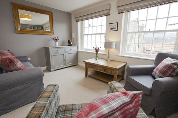 The spacious lounge at Spyglass 1708, Gorgeous Cottages, Whitby