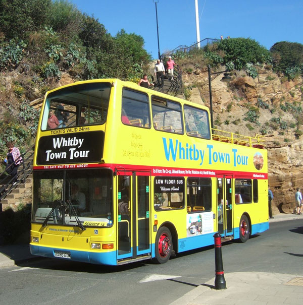Open top bus at Khyber Pass, Whitby