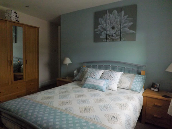 The spacious double bedroom at the Penthouse, Whitby