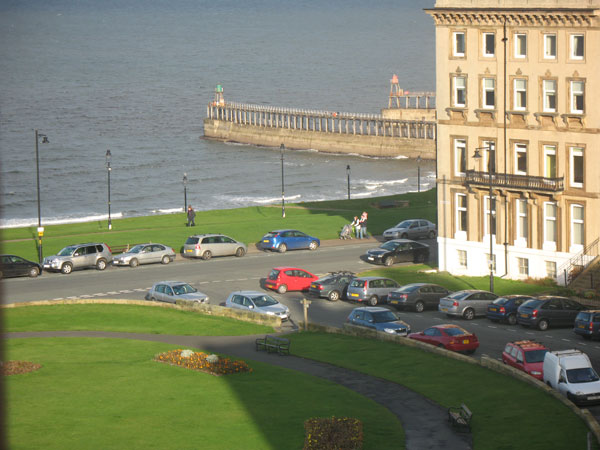 The stunning view from the Penthouse, Whitby