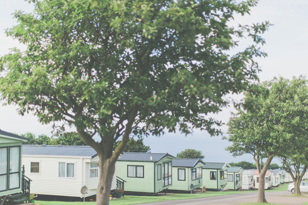The pretty row of static caravans at Northcliffe & Seaview Holiday Park, Whitby