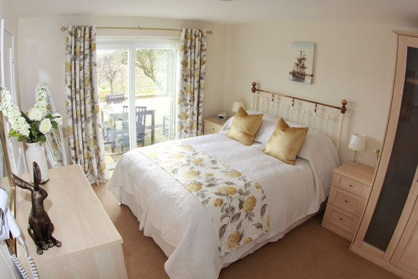 The double bedroom in Lemon Cottage, Whitby