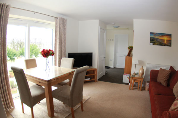 The open plan living area at Lemon Cottage, Whitby