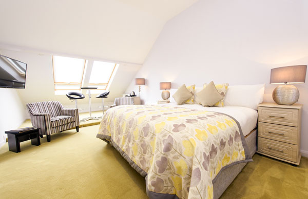 Delightful double bedroom at Raven Hall Country House Hotel, Whitby
