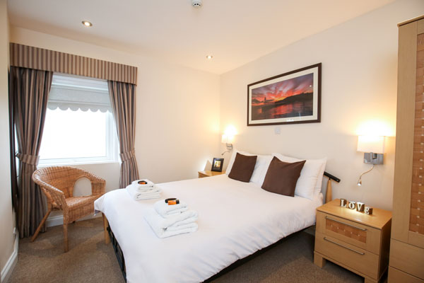 A light & airy double bedroom at The Riviera Guest House, Whitby