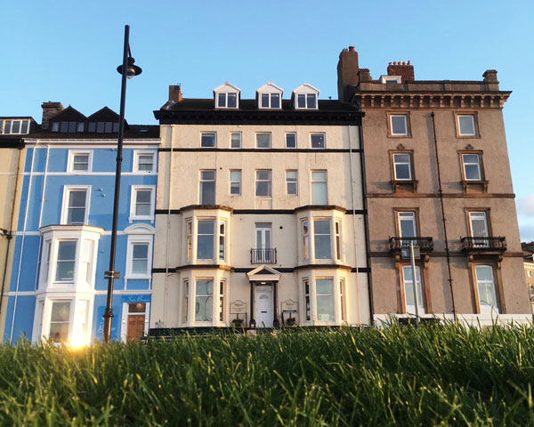 The grand exterior of The Riviera Guest House, Whitby