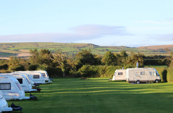 Unspoilt touring field at Serenity Touring Caravan & Camping Park, Whitby