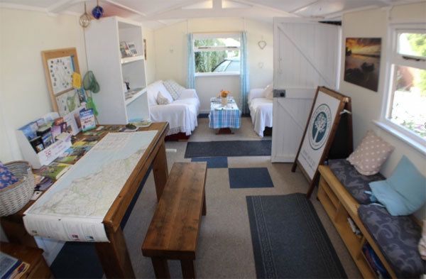 The Info & Wifi Cabin at Serenity Touring Caravan & Camping Park, Whitby