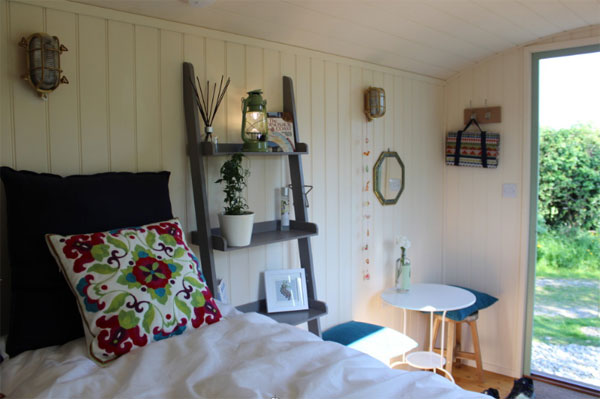 The beautiful interior of the Shepherds Hut at Serenity Touring Caravan & Camping Park, Whitby