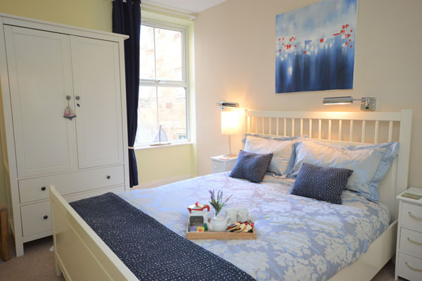 A double bedroom at the Jolly Roger, Whitby Holiday Cottages