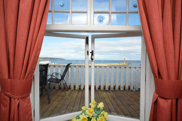 The delightful view from Pier Cottage, Whitby Holiday Cottages