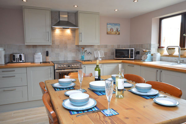 The amazing kitchen diner at Willow Cottage, Whitby Holiday Cottages