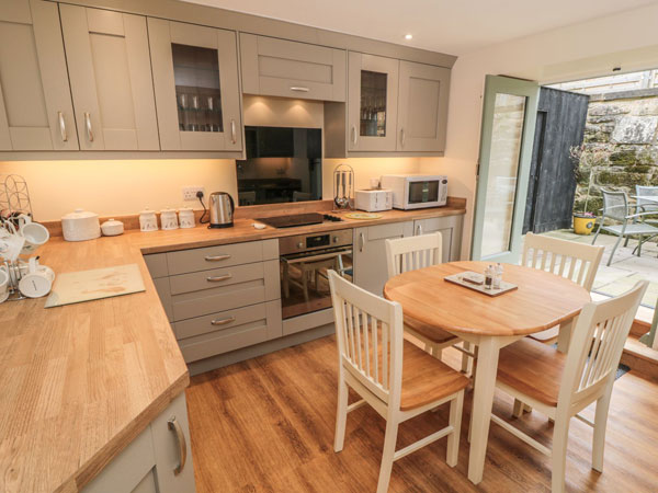A stunning kitchen diner at Sykes Cottages, Whitby
