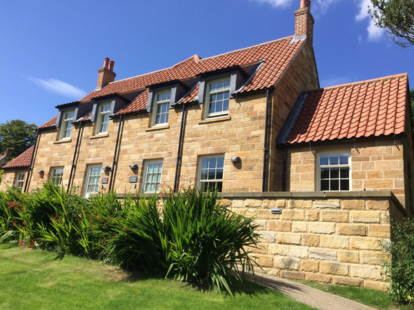 The beautiful exterior of Sorrel Cottage and Campion Cottage, Mulgrave Estate, Whitby, Sandsend