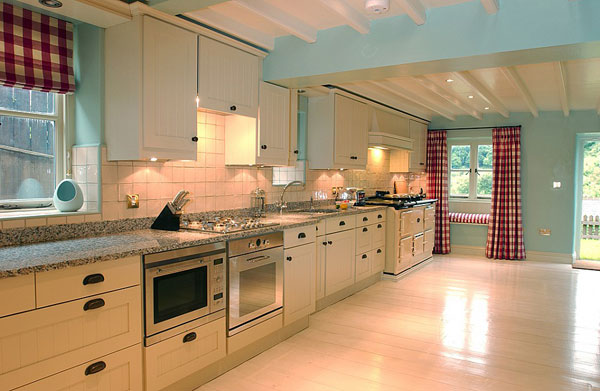 The stunning kitchen at Vancouver Cottage, Mulgrave Estate, Whitby, Sandsend