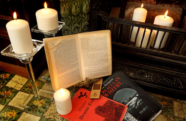A set of Dracula books at Number Seven Guest House, Whitby