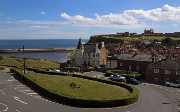The stunning view from bedroom 2 at Number Seven Guest House, Whitby