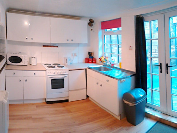 The light & airy kitchen at Stables Cottage, Whitby Harbourside Cottages, Whitby
