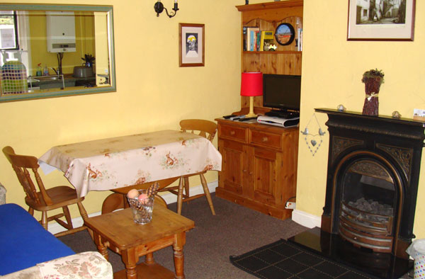 The dinning area at Wren Cottage, Whitby Harbourside Cottages, Whitby