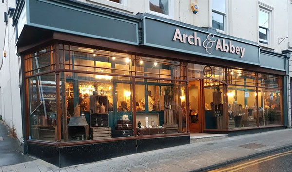 Stunning exterior of The Arch and Abbey, Whitby