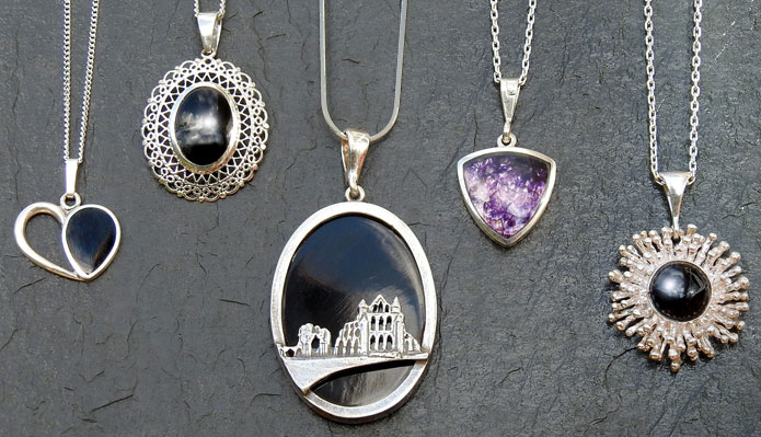 Beautiful handmade pendants from The Black Pearl, Whitby